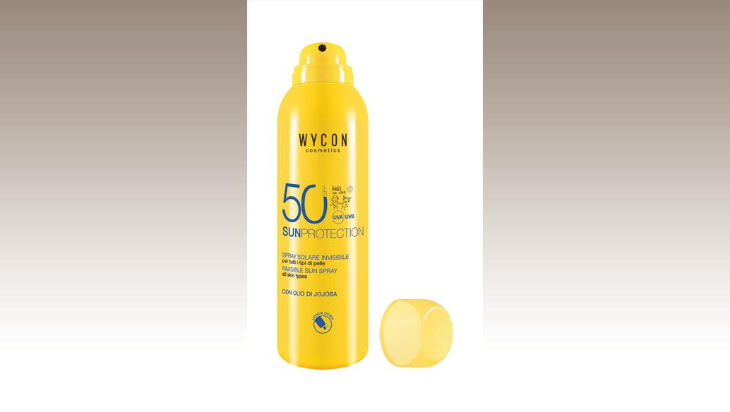 Spray Aerosol protettivo dalla texture invisibile e fresca. Arricchito con Olio di Jojoba e Vitamina E, Wycon Cosmetics