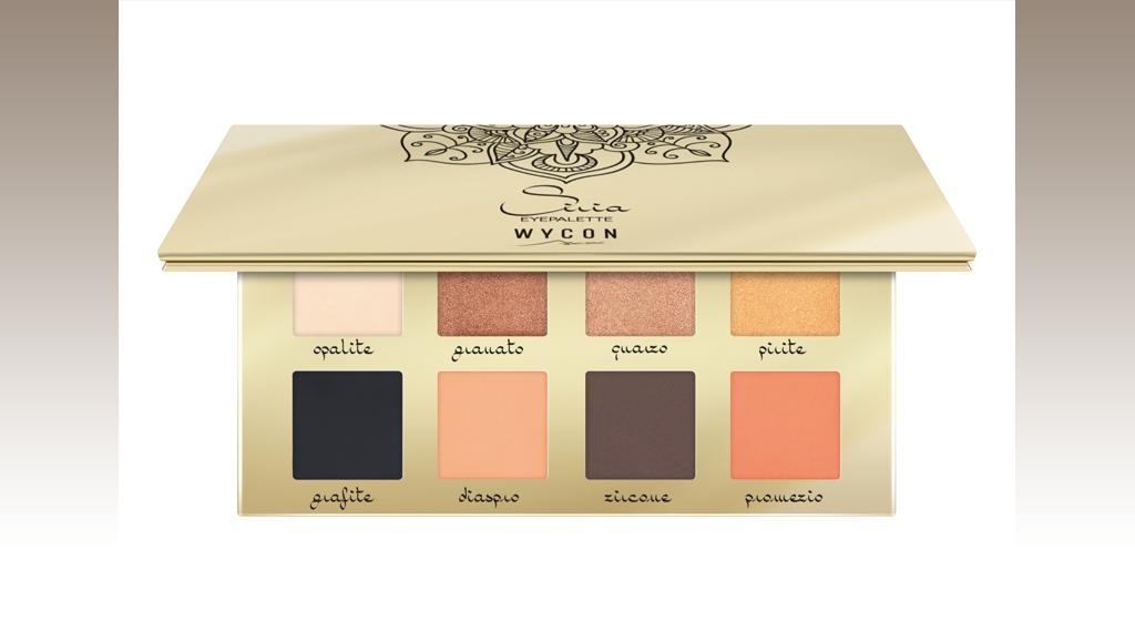 Palette con 8 tonalità calde dal finish matt e metallizzato, Wycon Cosmetics