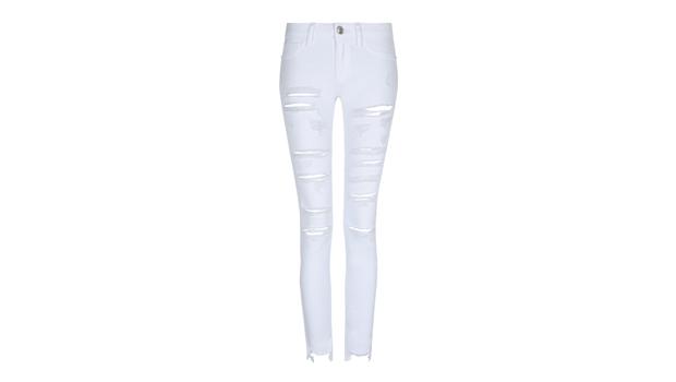 Skinny jeans bianco con tagli, Tally Weijl