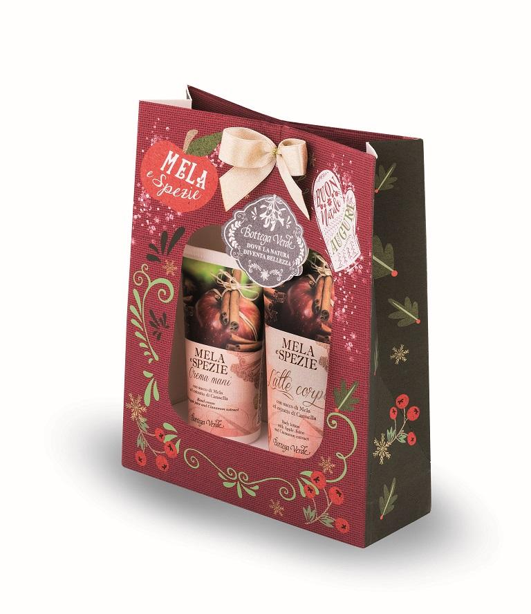 2.Beauty bag con  prodotti corpo alla mela e spezie, Bottega Verde