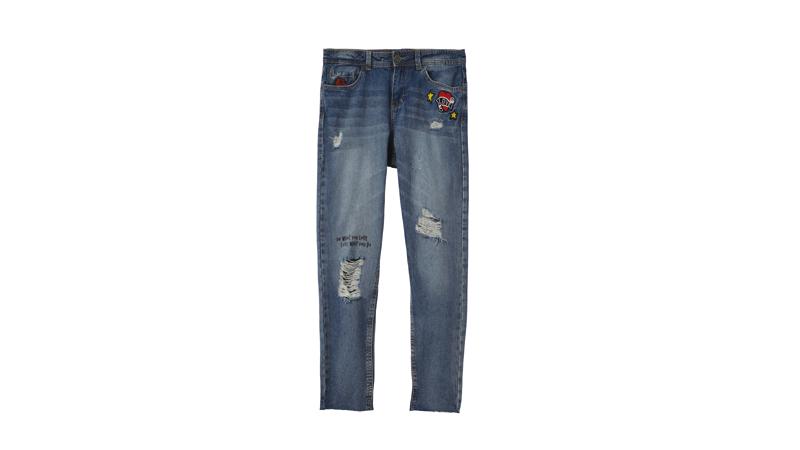 Jeans skinny strappati, Terranova