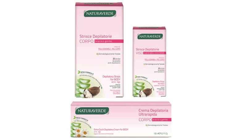 Strisce e crema depilatorie, Naturaverde