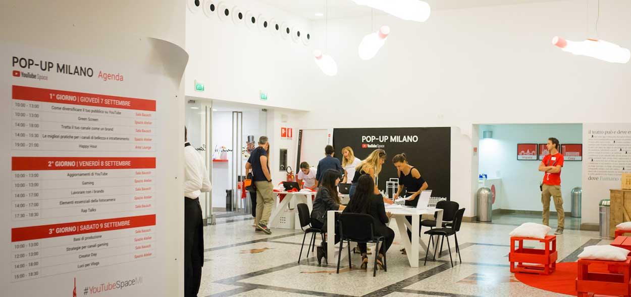 YouTube Pop-up Space: i creator italiani si danno appuntamento a Milano