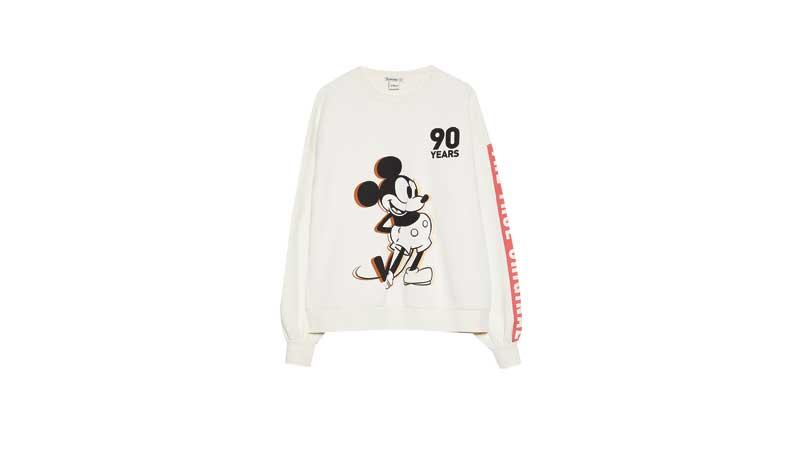 Felpa-bianca-collezione-Mickey90,-Stradivarius