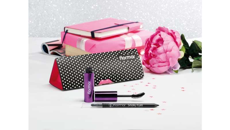 Kit con Smoky Eyes Eyeliner Carbon Black e Precious Curl Mascara, Flormar