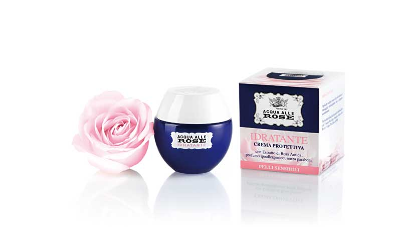 Crema protettiva idratante per pelli sensibili Acqua alle Rose, Roberts