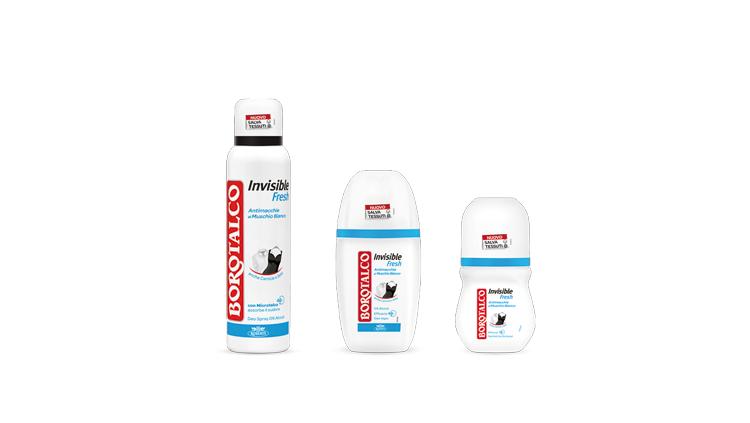 Invisible Fresh deodorante, Borotalco
