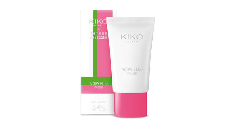 Primer della limited edition Active Fluo (disegnata dal designer Arthur Arbesser) studiata per massimizzare durata e resistenza del make-up, KIKO