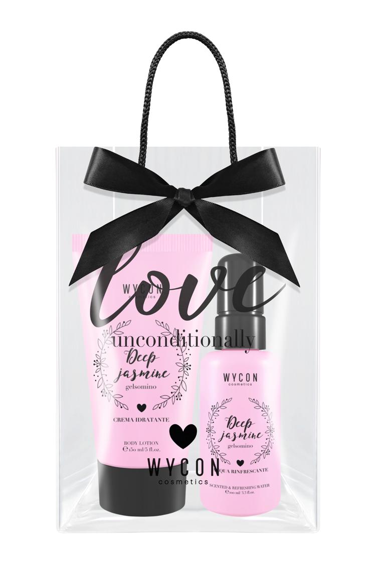 Collezione in limited edition Love Unconditionally, con 6 acque profumate e 6 creme corpo, Wycon Cosmetics