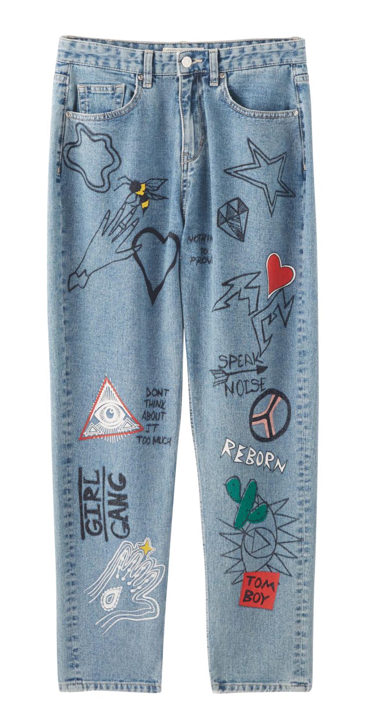 Jeans con graffitismi, Pimkie