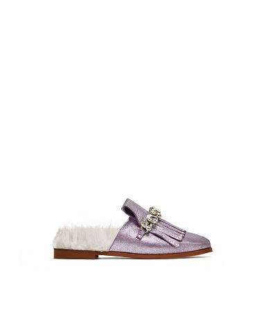 4.Mocassino lamè pantofola, Zara