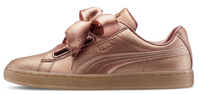 6 6.Sneaker Basket Heart con laccio in raso, Puma (venduta da AW LAB)