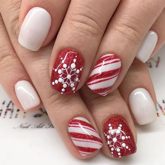 #6 candy red nails